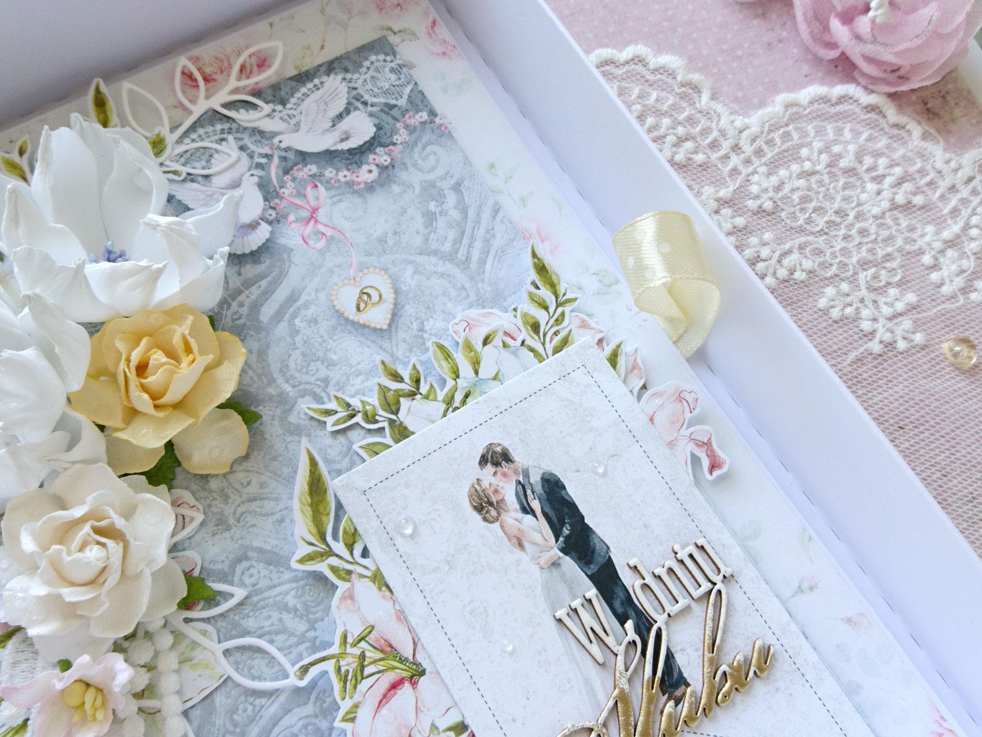 Delikatna kartka ślubna
