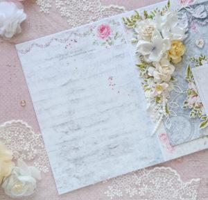 Delikatna kartka ślubna tył