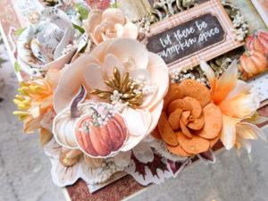 Kwiaty na kartce jesiennej