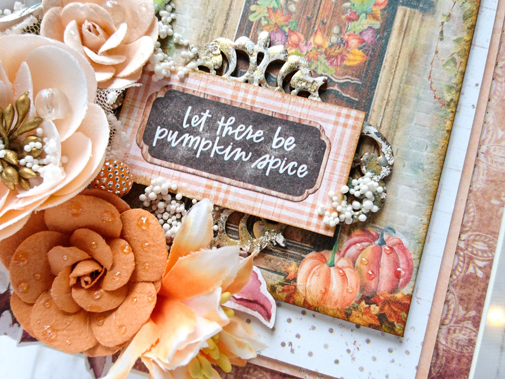 Kartka jesienna z bliska