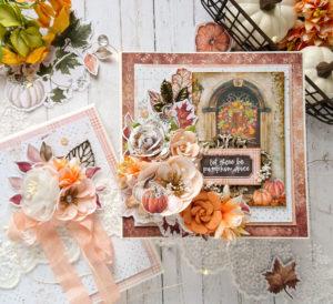 Jesienna kartka z drzwiami