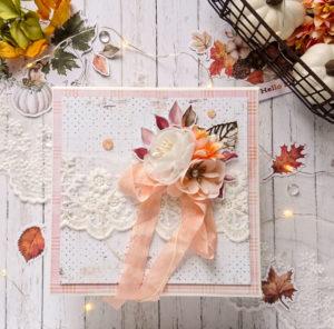 Pudełko na kartkę jesienną